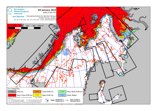 Barents Sea ice extent 2018 Jan 5_NIS