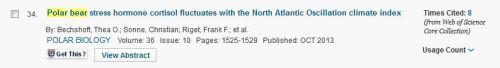 Bechshoft et al 2013 number 34 Web of Science