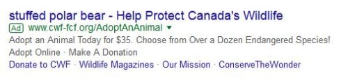 Canadian Wildlife Federation_Google ad_7 Jan 2018