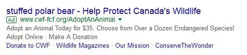 Canadian Wildlife Federation_Google ad_7 Jan 2018