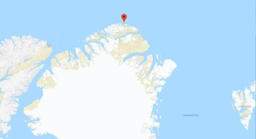 Cape Morris Jesup location Greenland_Google map