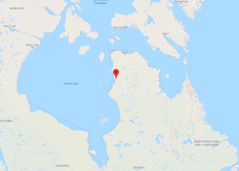 Puvirnituq Quebec_location_Google maps
