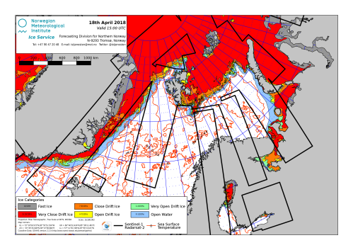 Barents Sea ice 2018 April 18 NIS