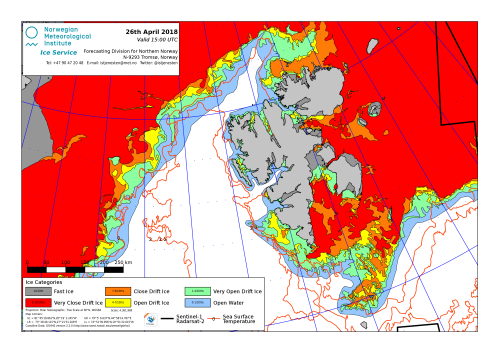 Svalbard ice extent 2018 April 26_NIS