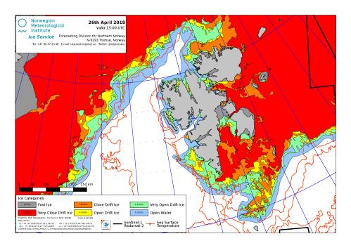 Svalbard ice extent 2018 April 26_NIS