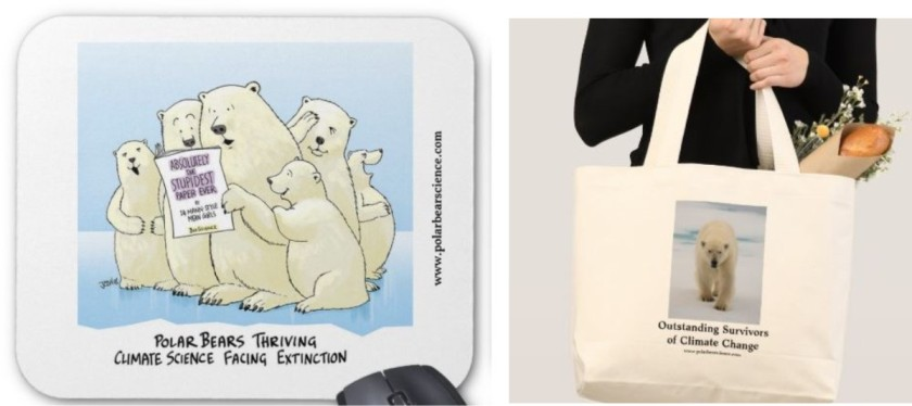 mousepad and tote together_PolarBearScience