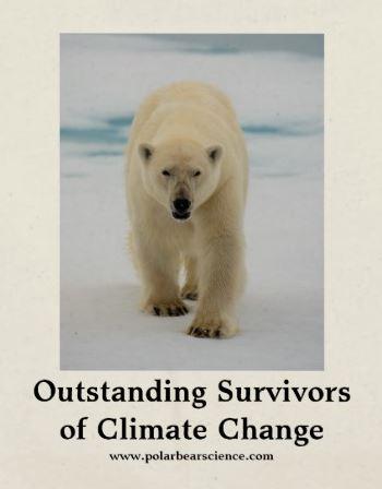 Polar bear survivor large tote image closeup