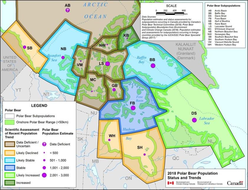 Canadian pb status and population map EC 2018