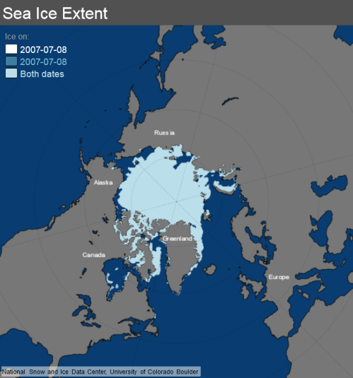 ice_extent_map 8 July 2007 NSIDC
