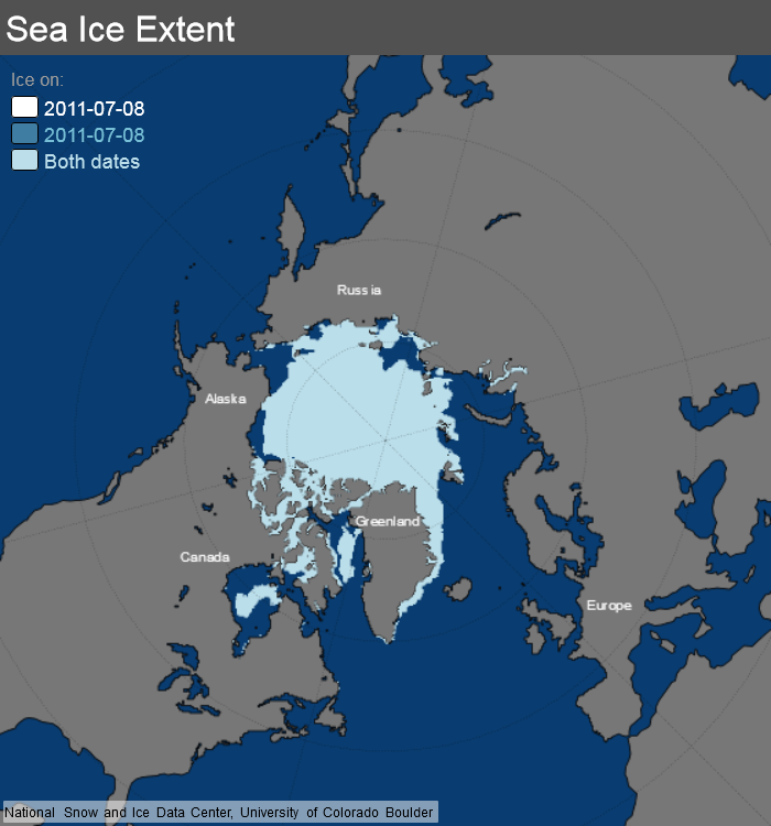 ice_extent_map 8 July 2011 NSIDC