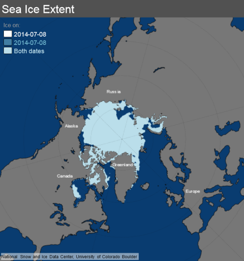 ice_extent_map 8 July 2014 NSIDC