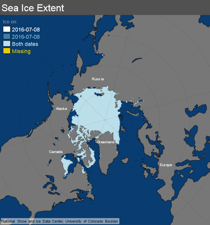 ice_extent_map 8 July 2016 NSIDC