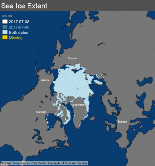ice_extent_map 8 July 2017 NSIDC