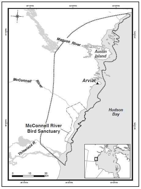 McConnell Bird Sanctuary south of Arviat
