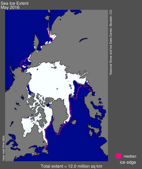 Sea ice extent 2016 May average_NSIDC