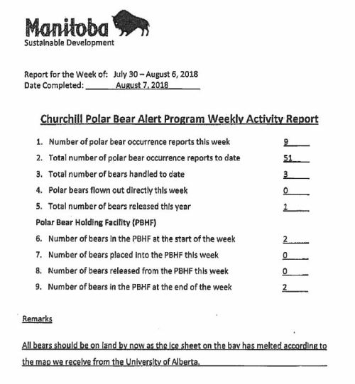 Churchill PB reports_week 4_ July 30-Aug 6 2018