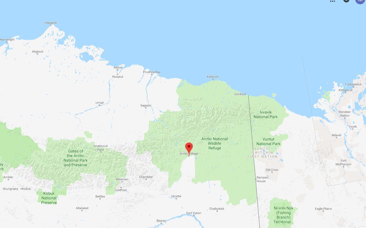 arctic village ak map google