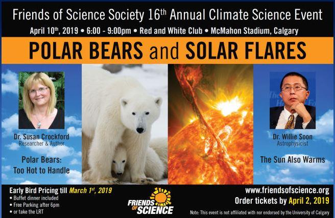 2019 Friends of Science lecture announcement April 10