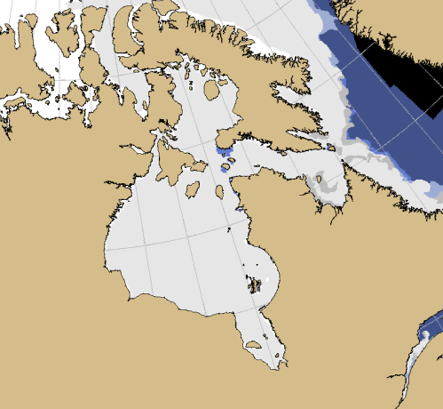 Sea ice Canada 2019 Jan 3