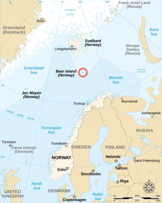 Bear Island_Bjornoya_Location_Wikipedia