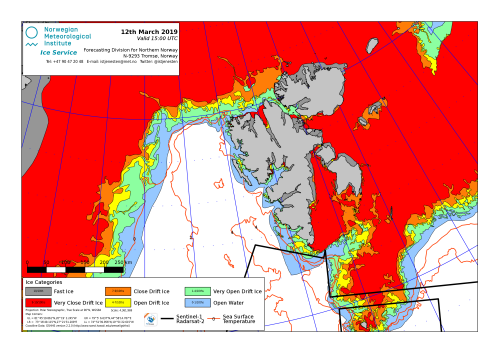 Svalbard ice extent 2019 March 12_NIS