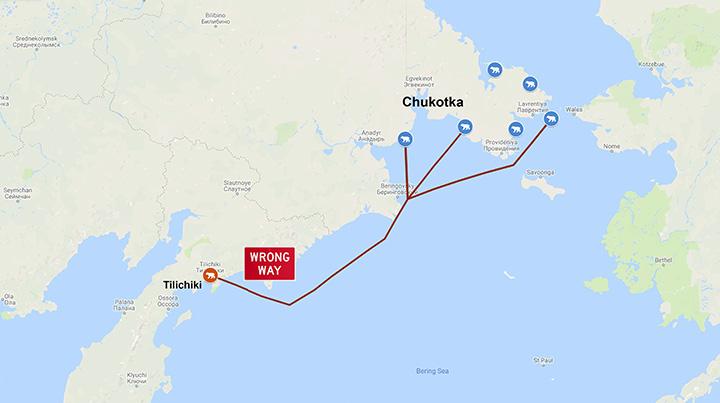 Polar bear visits Kamchatka