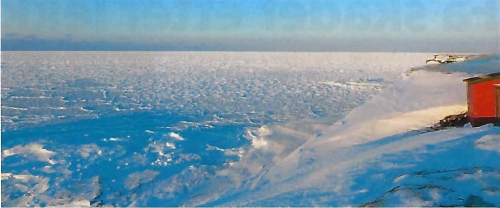 Bear island mid March 2019_concentrated ice surrounded the island as it did in the old days_Meteorological Station photo SVALBARDPOSTEN