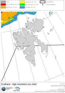 Svalbard ice extent 2012 Aug 27_NIS archive