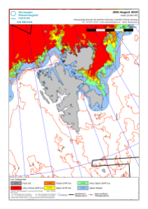 Svalbard ice extent 2019 Aug 26_NIS archive
