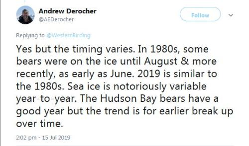 Derocher 2019 HB melt season 2019 is like the 1980s_15 July