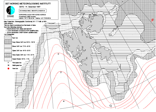 Svalbard ice extent 1997 Dec 11_NIS archive