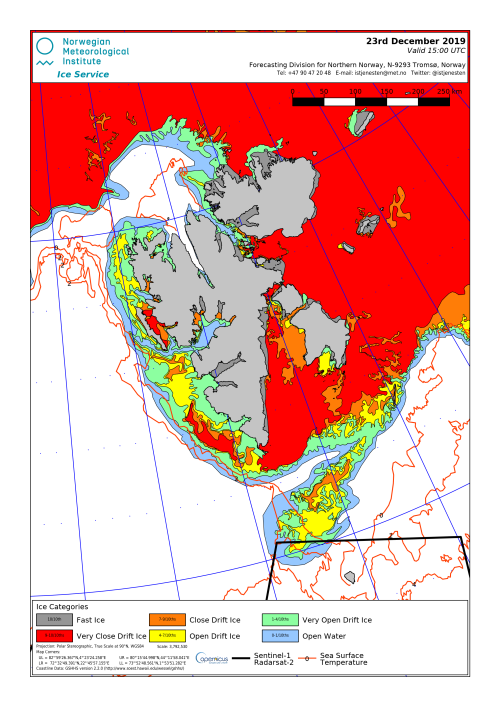 Svalbard ice extent 2019 Dec 23_NIS