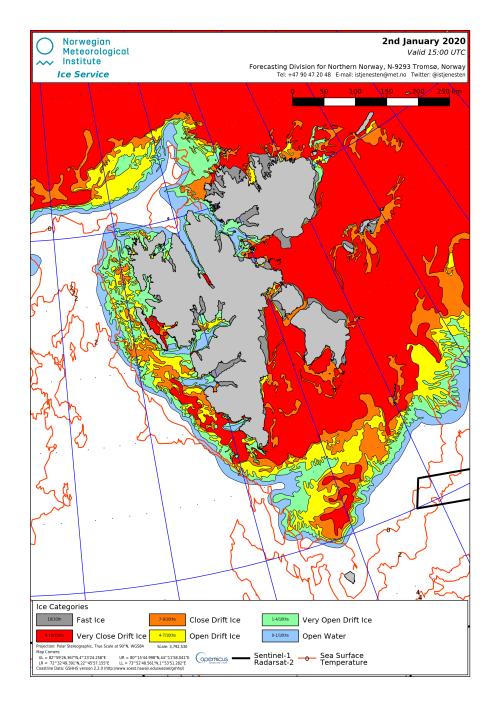 Svalbard ice extent 2020 Jan 2_NIS