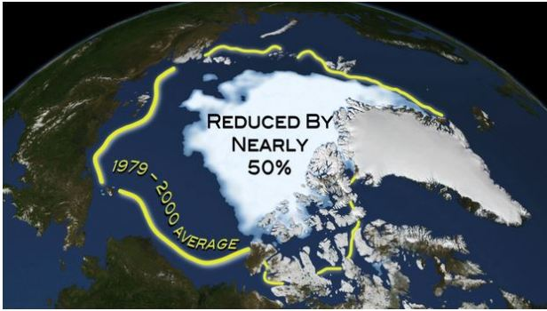 Sea ice extent_2012_Sept low_reduced by more than 50pc_NASA Ice Imagery