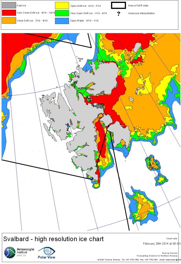 Svalbard ice extent 2014 first year minus bear island Feb 28_NIS
