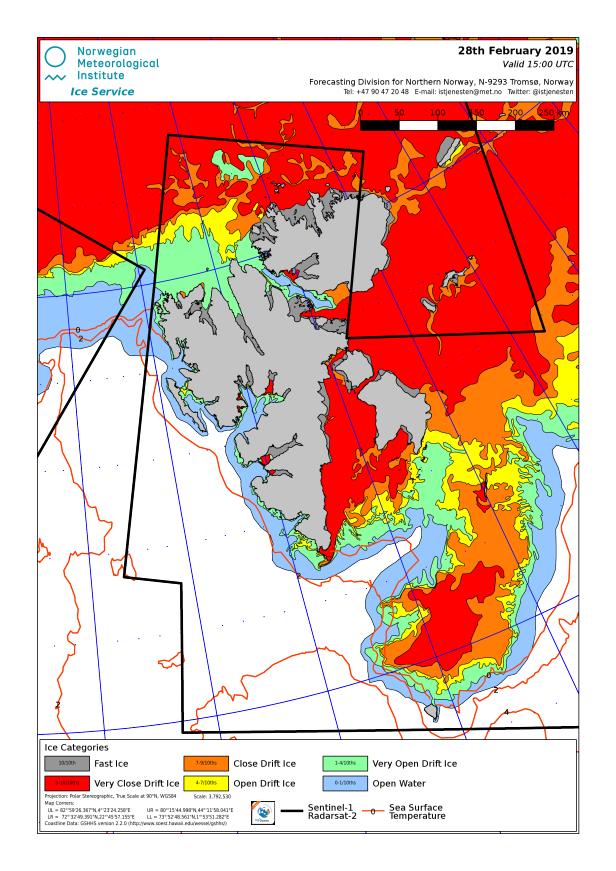 Svalbard ice extent 2019 Feb 28_NIS