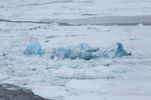 Barents Sea ice consolidated with glacier ice north of Novaya Zemlya_April 2020