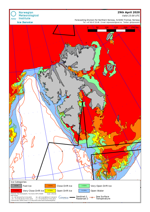 Svalbard ice extent 2020 April 29_NIS