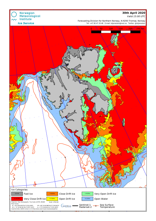 Svalbard ice extent 2020 April 30_NIS