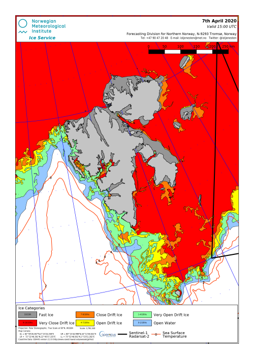Svalbard ice extent 2020 April 7_NIS