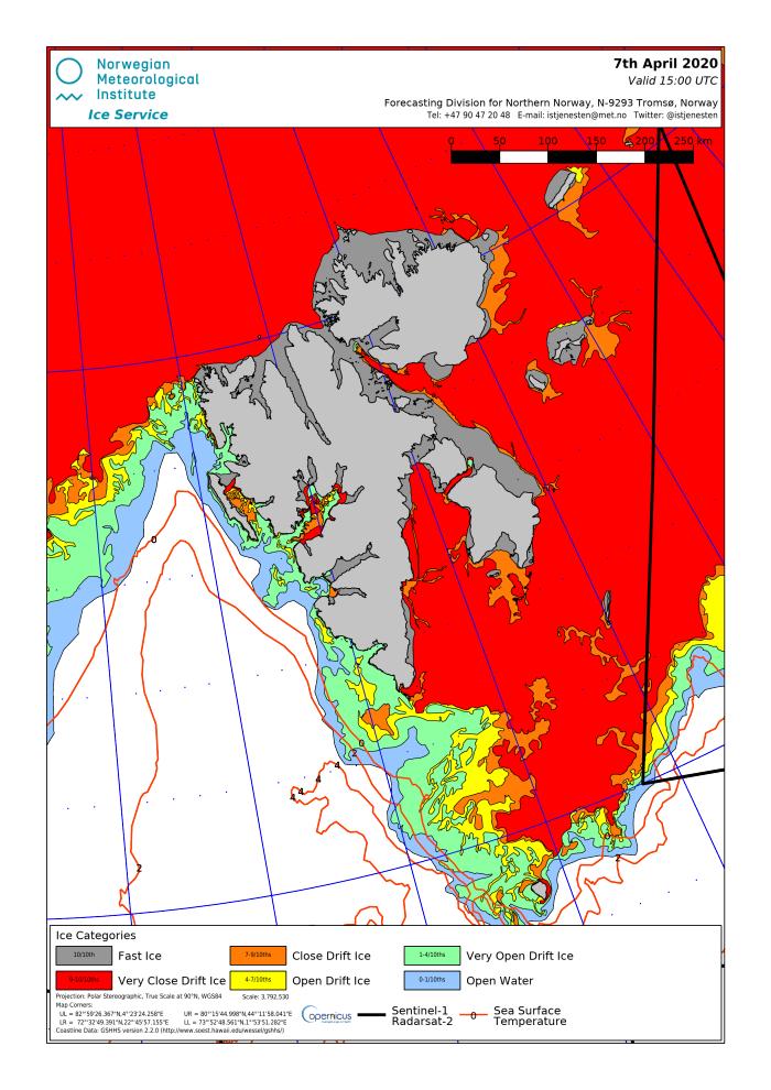 Svalbard ice extent 2020 April 7_NIS