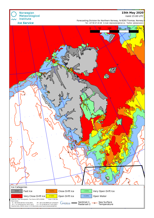 Svalbard ice extent 2020 May 15_NIS