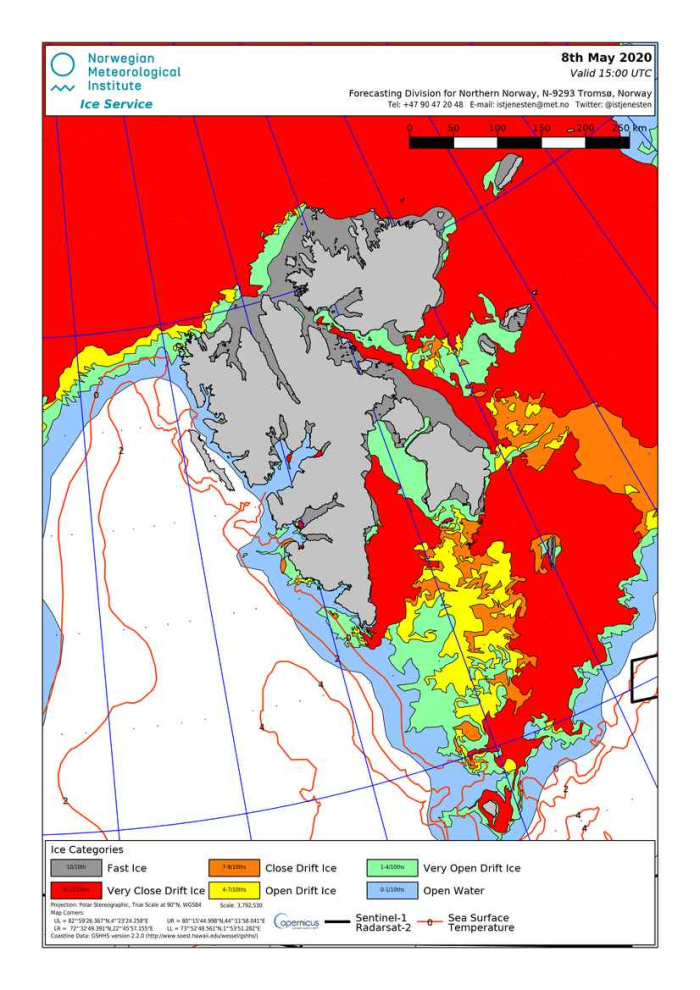 Svalbard ice extent 2020 May 8_NIS