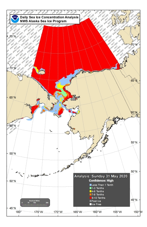 Chukchi Bering sea ice 2020 May 31 concentration lg
