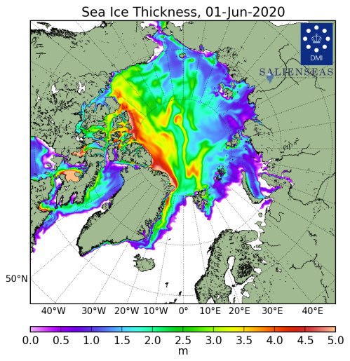 Sea ice thickness_DMI_2020_06_01_lg