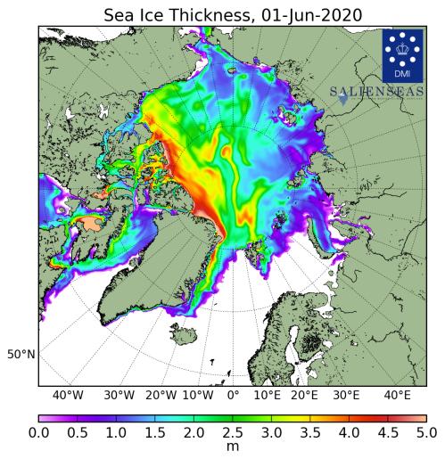 Sea ice thickness_DMI_2020_06_01_lg