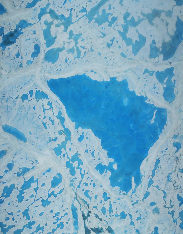 Melt ponds in the Beaufort 14 July 2016 NASA sm