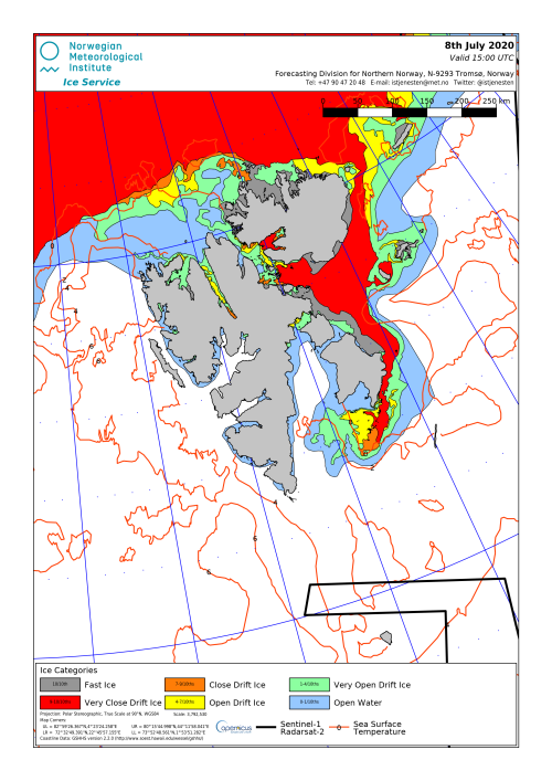 Svalbard ice extent 2020 July 8_NIS