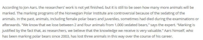 Svalbard TEXT 2 polar bear male dies during marking research_11 Sept 2020